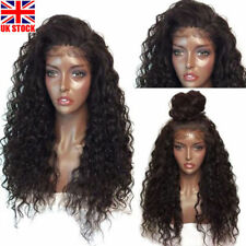 Long Full Wavy Front Lace Wig Afro Kinky Curly Natural Hair Wigs Womens Black