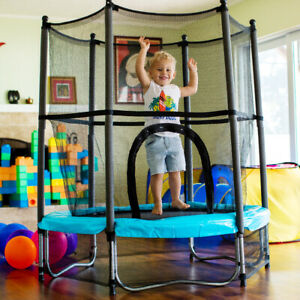 """4.5ft Exercise Jumping Trampoline 55"""" mini Kids Toy Trampoline Indoor/ Outdoor"""