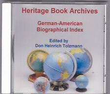 German-American Biographical Index  by Don H. Tolzmann 1999, CD-Rom  #7549