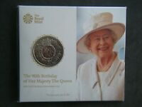 2016 Royal Mint £5 Brilliant UNC BUNC Queens 90th Birthday Sealed Pack
