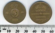 Sweden 1971 - 5 Ore Bronze Coin - King Gustaf VI Adolf