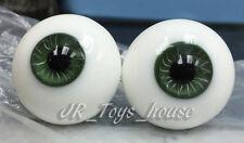 Extra High Grade & Quality Glass Eye 12mm Grey Green Vein YoSD DOD Lati Yellow