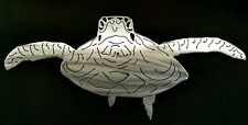 24 Inch Gift for 2020 Sea Turtle metal decor wall art  sign Polished Raw Steel