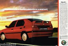 Publicité advertising 1990 (2 pages) Alfa Romeo 33 Boxer 16V