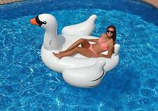 Jumbo Inflatable Pool Floating Ride On Swan Raft Giant White Party Water Lounge