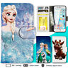 iPhone 8 7 Plus 6s X SE Case Disney Frozen Print Wallet Leather Cover For Apple