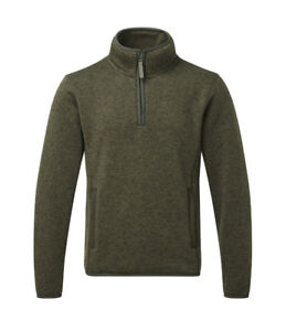 Men's Fort  Easton Pullover Jumper Sweater Fleece Olive Country Hunting Shooting