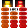 "14X Amber Red 6LED Side Marker Light 4"" x 2"" LED Clearance Camper Trailer RV 12V"