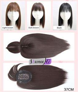 Synthetische Haare Topper Stück Frauen Hairpiece Toupee Topper Verschluss mit