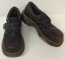 "Dr. ""Doc"" Martens ""3A78"" Brown Leather Buckle Oxfords Men's 6 Women's 7 (UK 5)"