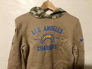 Youth LA Chargers Nike Khaki 2019 Salute to Service Pullover Hoodie Sweatshirt L