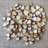 Wooden MINI MIXED HEARTS For Cardmaking Scrapbooking Craft Embellishment Shapes