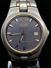 CITIZEN 2510-S93592 Mens Classy Quartz Watch - Titanium - Date - Two Tone GN-4-S