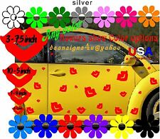 RED LIP kisses 34 car Volkswagen decal golf cart sticker love bug BONUS kiss NEW