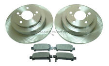 for SUBARU FORESTER LEGACY & TURBO REAR 2 BRAKE DISCS & PADS SET NEW