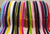 Luxury Velvet Ribbon 16mm 20 Colours Choices in 1 Metre, 2 Metres or 3 Meters UK