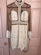 Beautiful Cream Lace See Through Dress Pretty Little Thing Size 10 BNWT