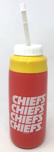 Vintage Kansas City Chiefs Insulated Water Squeeze Bottle 1990 Drink Gym Rare
