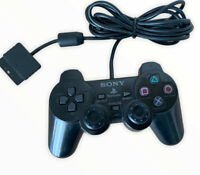 OFFICIAL SONY PS2 PLAYSTATION 2 WIRED CONTROLLER GENUINE BLACK DUALSHOCK 2 (12