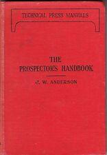 Vintage Prospector's Handbook (manual) -1935 edition