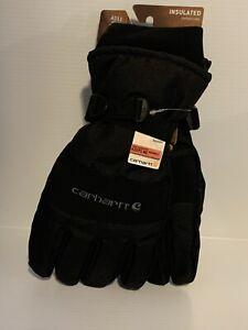 Mens Winter Warm Gloves Waterproof Insulated Work Black  XL Ultra Soft