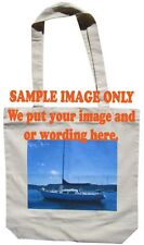 Custom printed with your full colour image on Canvas Bags