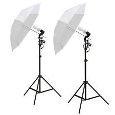"2x 33"" White Umbrella Reflector Lamp Photography Stand Photo Studio Lighting Kit"