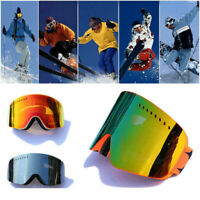 Snowboard Snowmobile Ski Goggles Magnet UV Protection Anti-fog Double-Lens