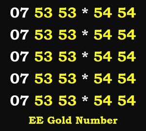 Number Phone Card Mobile Sim Easy Business Vip Diamond Platinum Ee Golden Gold