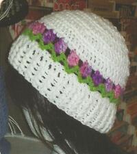 Crochet Pattern ~ LADIES TULIP BEANIE Hat ~ Instructions