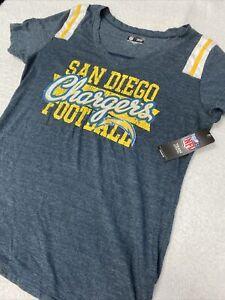 🌴 NWT San Diego Chargers NFL Football Short Sleeve SS Blue Gray Shirt Xlarge Xl