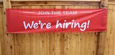 New Listingnew Were Hiring Banner Join The Team Sign Big 2 X 8 Outdoor Vinyl Mesh Store