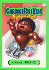 Garbage Pail Kids Flashback Series 3 Green Parallel Base Card 10a Clogged DUANE