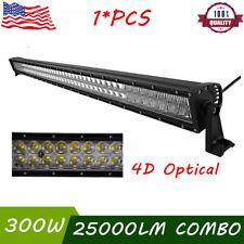 "52""inch 300W LED Work Light Bar 4D Lamp Spot Flood Offroad Truck Ford GMC 4WD"