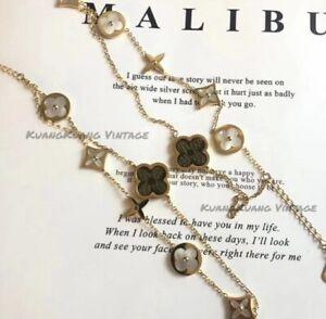 Louis Vuitton Gold Monogram Leather Double-Link Chains Bracelet