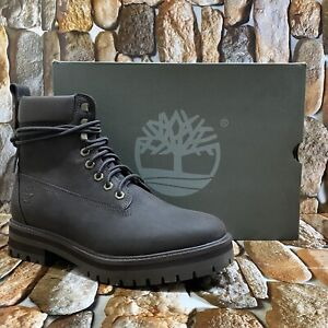 TIMBERLAND MEN'S COURMA GUY WATERPROOF LEATHER BOOTS DARK BROWN A27ZH SIZE 9M