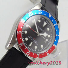 41mm corgeut Dial GMT SS Date LUME Sapphire Glass automatic movement men's Watch