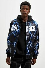 Mitchell & Ness Olajuwon HARDEN HOUSTON ROCKETS Lightning Satin Jacket Size 2XL