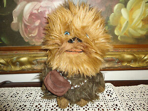 Star Wars 2010 Lucas Films CHEWBACCA TALKING TOY Furry Stuffed Plush 8in. w Tags