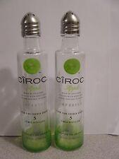 Pair CIROC Apple Vodka Mini Liquor 50ml Bottles UpCycled SALT & PEPPER Shakers