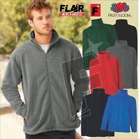 Fruit Of The Loom Men's Full Zip Fleece, 6-Colour - (S-2XL)