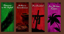 Inspirational Christian Church Banners - Easter Set B (FOUR BANNER SET)
