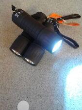 3 bright handheld led torches. Bundle of 3, black, including batteries.