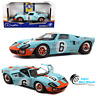Solido 1:18 1968 Ford GT40 MK1 Gulf #6 (Light Blue) Le Mans 1969 - Diecast Model