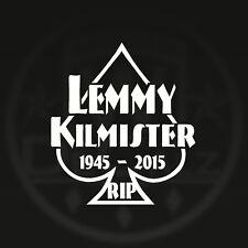 RIP LEMMY KILMISTER IN MEMORY OF VINYL DECAL STICKER ROCK GODFATHER MOTORHEAD LK
