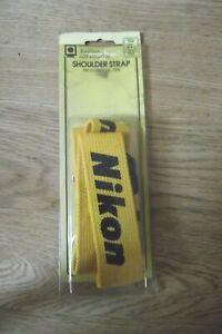 NIKON Shoulder Strap Yellow  Genuine Nikon Professional type Excellent Condition