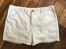 Dockers Shorts Khakis Womens Size 14 Cream Casual Advantage