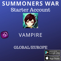 Summoners War Dark Vampire Cadiz Starter Account