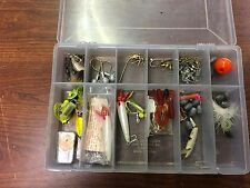 Plastic Box of Lures, Weights etc.