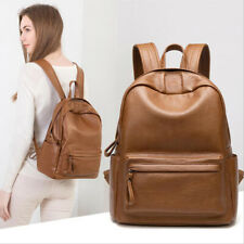 Vintage Leather Backpack Women Cowhide Backpacks Girls School Bags Rucksack